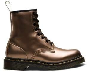 Dr. Martens Women's Vegan Metallic Chrome Boots