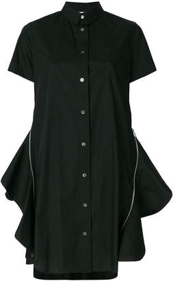 Sacai flared shirt dress