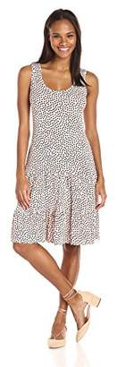 MSK Women's Sleeveless Ruffle Hem Knit Dress