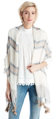 Embellished Knit Scarf with Tassels $39.95 thestylecure.com