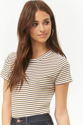 Forever 21 Multicolor Striped Top