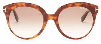 Tom Ford Monica 54mm Round Sunglasses