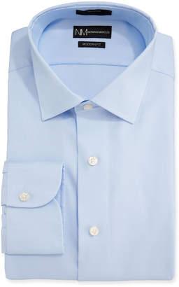 Neiman Marcus Men's Modern Fit Royal Oxford Basic Dress Shirt