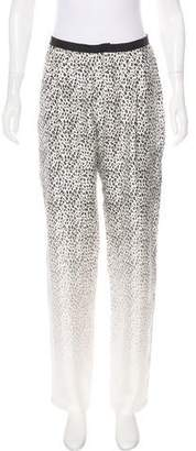 Band Of Outsiders Printed Silk High-Rise Pants