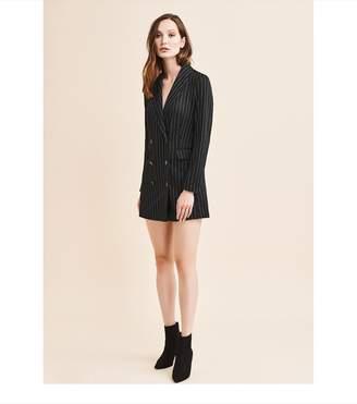 Dynamite Knitted Blazer Dress BLACK/WHITE PINSTRIPE