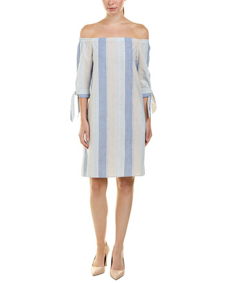 Lafayette 148 New York Petite Natalya Linen-Blend Shift Dress