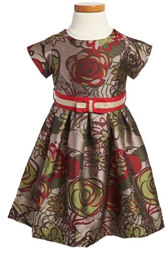 Us Angels Jacquard Dress (Toddler Girls)