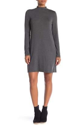 Premise Studio Long Sleeve Mock Neck Knit Dress