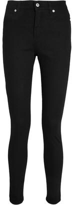 McQ Alexander McQueen - Harvey Zip-detailed Skinny Jeans - Black $395 thestylecure.com