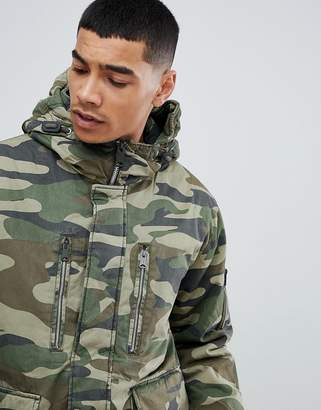 Pull&Bear Parka Jacket With Hood In Khaki