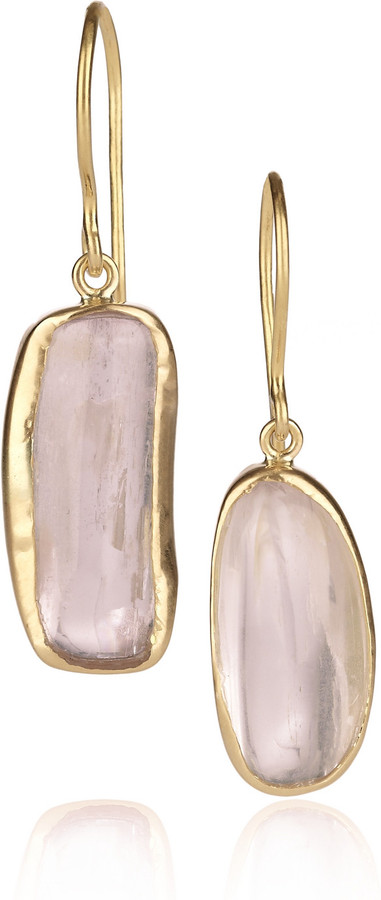 Pippa Small 18-karat gold kunzite earrings