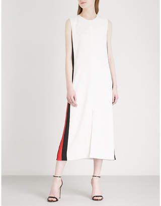 Burberry Side-stripe crepe midi dress