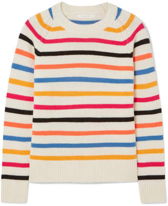 Chinti and Parker Striped Cashmere Sweater - Cream