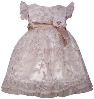 Bonnie Jean Short Sleeve Floral A-Line Dress - Baby Girls