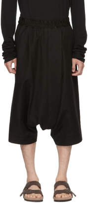 Julius Black Over Fly Drop Trousers