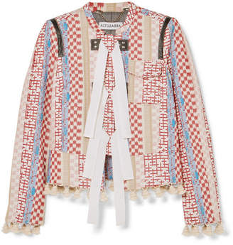 Altuzarra Avenue Tasseled Jacquard Jacket - Off-white