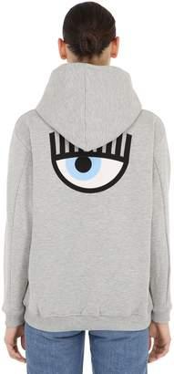 Chiara Ferragni Eye Embroidery Cotton Hoodie