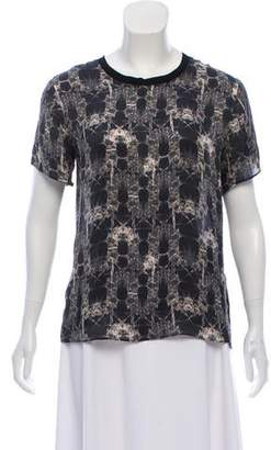 Theyskens' Theory Silk Print Top