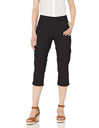 Lee Women's Flex-to-Go Relaxed Fit Pull-On Cargo Rolled Hem Capri Pant