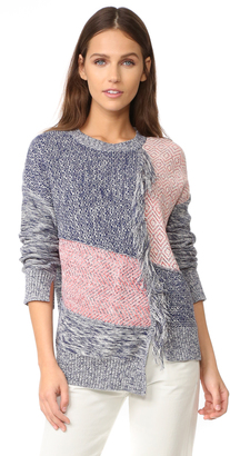 BCBGMAXAZRIA Fringed Patch Sweater $248 thestylecure.com