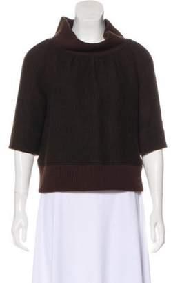 Dries Van Noten Wool Knit Sweater Brown Wool Knit Sweater