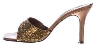 Stuart Weitzman Embellished Slide Sandals