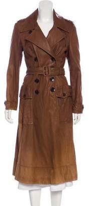 Burberry Leather Ombré Coat