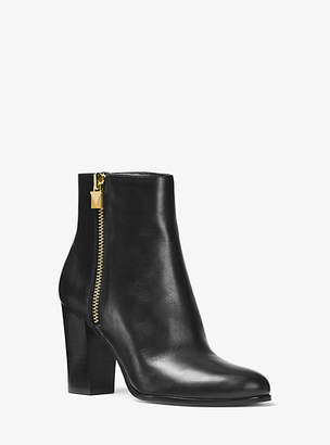 Michael Kors Margaret Leather Ankle Boot