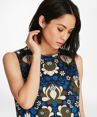 Brooks Brothers Floral-Print Cotton Sateen Blouse