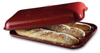 Emile Henry Baguette French Stick Baker For Three Loaves In Red Eh615506
