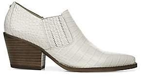 Sam Edelman Women's Walton Crocodile-Embossed Leather Ankle Boots