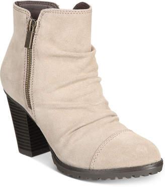 White Mountain Taft Block-Heel Booties Women's Shoes