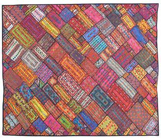 """One Kings Lane Vintage Midcentury Flat-Weave Rug - 6'6"""" x 8'3"""" - Keivan Woven Arts"""
