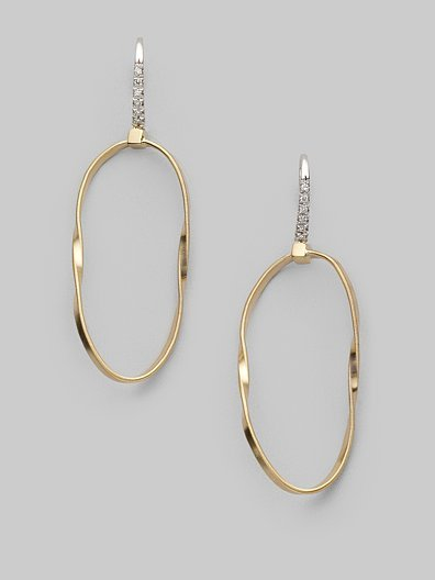 Marco Bicego Gold & Diamond Hoop Earrings