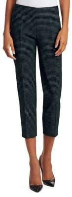 Piazza Sempione Audrey Check Cropped Trousers