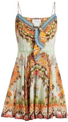 Camilla - Slice Of Paradise Silk Dress - Womens - Orange Multi