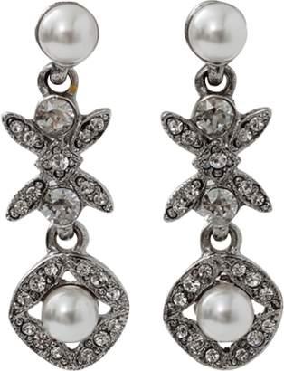 Oscar de la Renta Lattice Pearl Drop Earrings