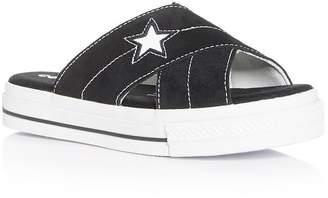 Converse One Star Slide Platform Sandals