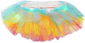 Best Nest Wellness Bestgift Women's Solid Color LED Light Up Layered Party Tutu Skirt Large