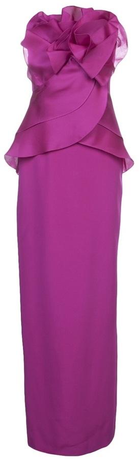 Marchesa strapless column gown