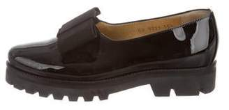 Walter Steiger Patent Leather Bow Loafers