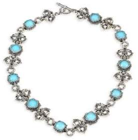 Konstantino Aegean Turquoise Doublet& Sterling Silver Necklace