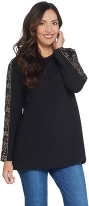 Susan Graver Weekend French Terry Tunic with Embroidery