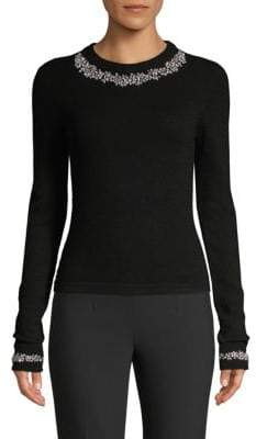 Michael Kors Crystal Embellished Cashmere Sweater