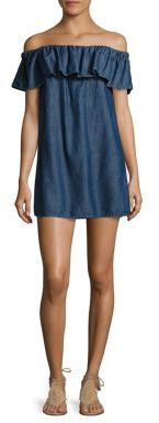 Joie Soft Joie Nilima Off-The-Shoulder Chambray Dress $168 thestylecure.com