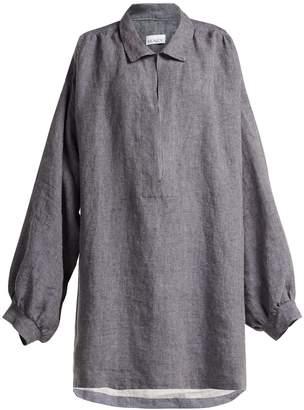 Raey Denim-linen smock dress