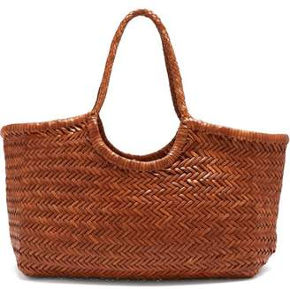 Dragon Optical DIFFUSION Nantucket woven-leather basket bag