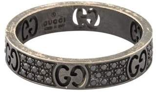 Gucci 18K Diamond Icon Stardust Thin Ring