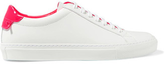 Givenchy - Matte And Patent-leather Sneakers - White $495 thestylecure.com