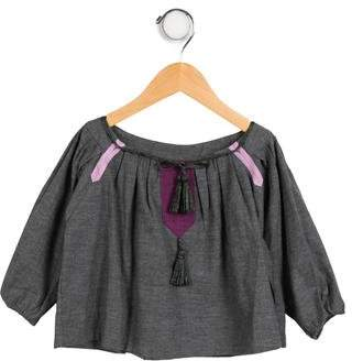 Tia Cibani Girls' Three-Quarter Sleeve Smock Top w/ Tags
